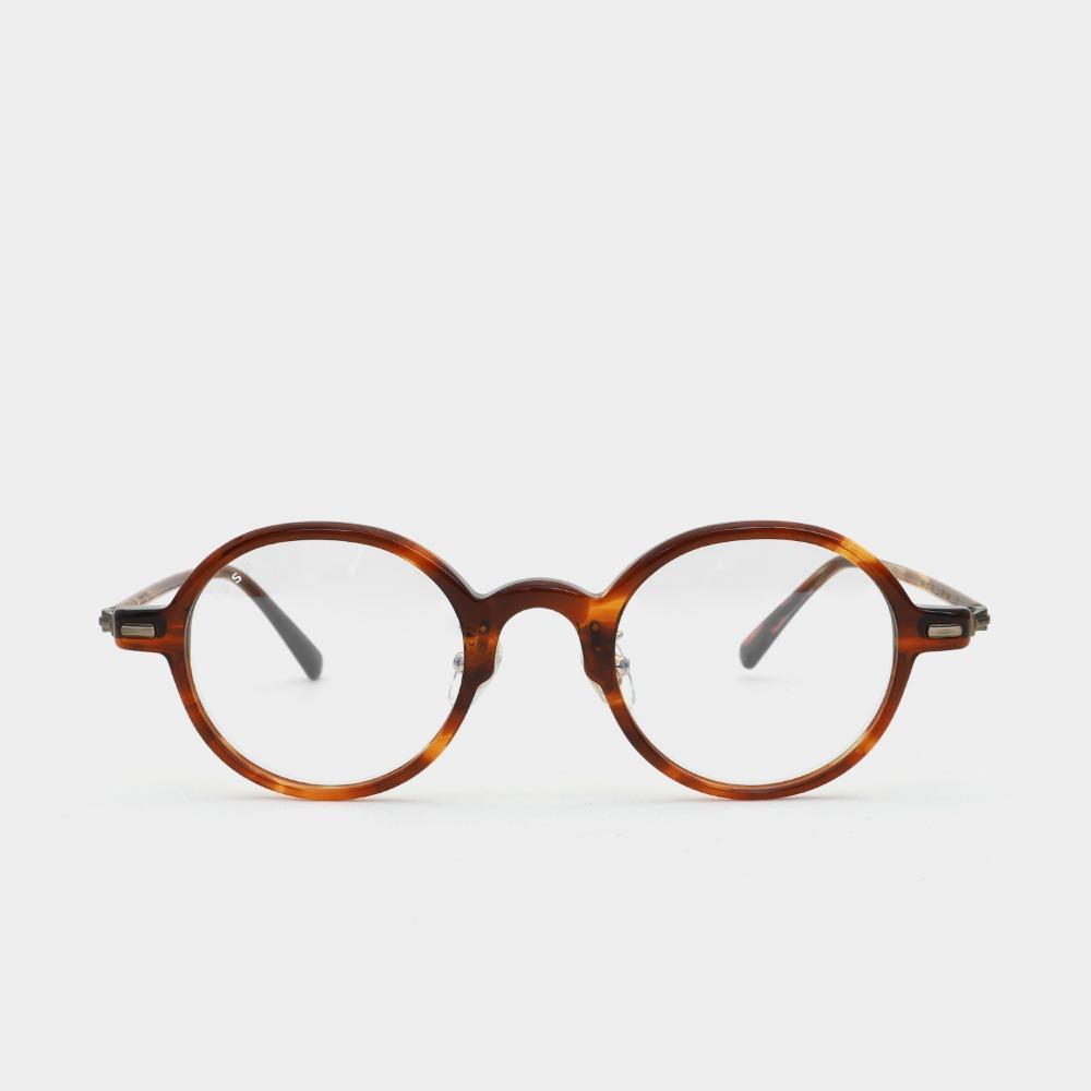 래쉬 안경 파인 L-TYPE PINE C2 45사이즈 남자 여자 원형 뿔테 안경테