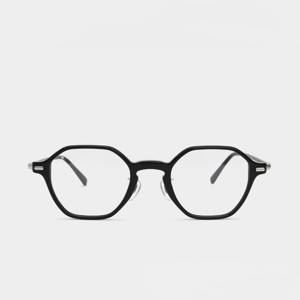 래쉬 안경 퍼 L-TYPE FIR C1 45사이즈 남자 여자 다각형 뿔테 안경테
