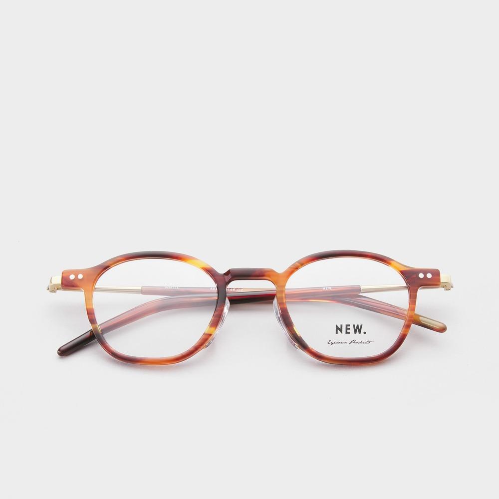 뉴.아이웨어 안경테 WHITE C2 Brown Sasa NEW.eyewear