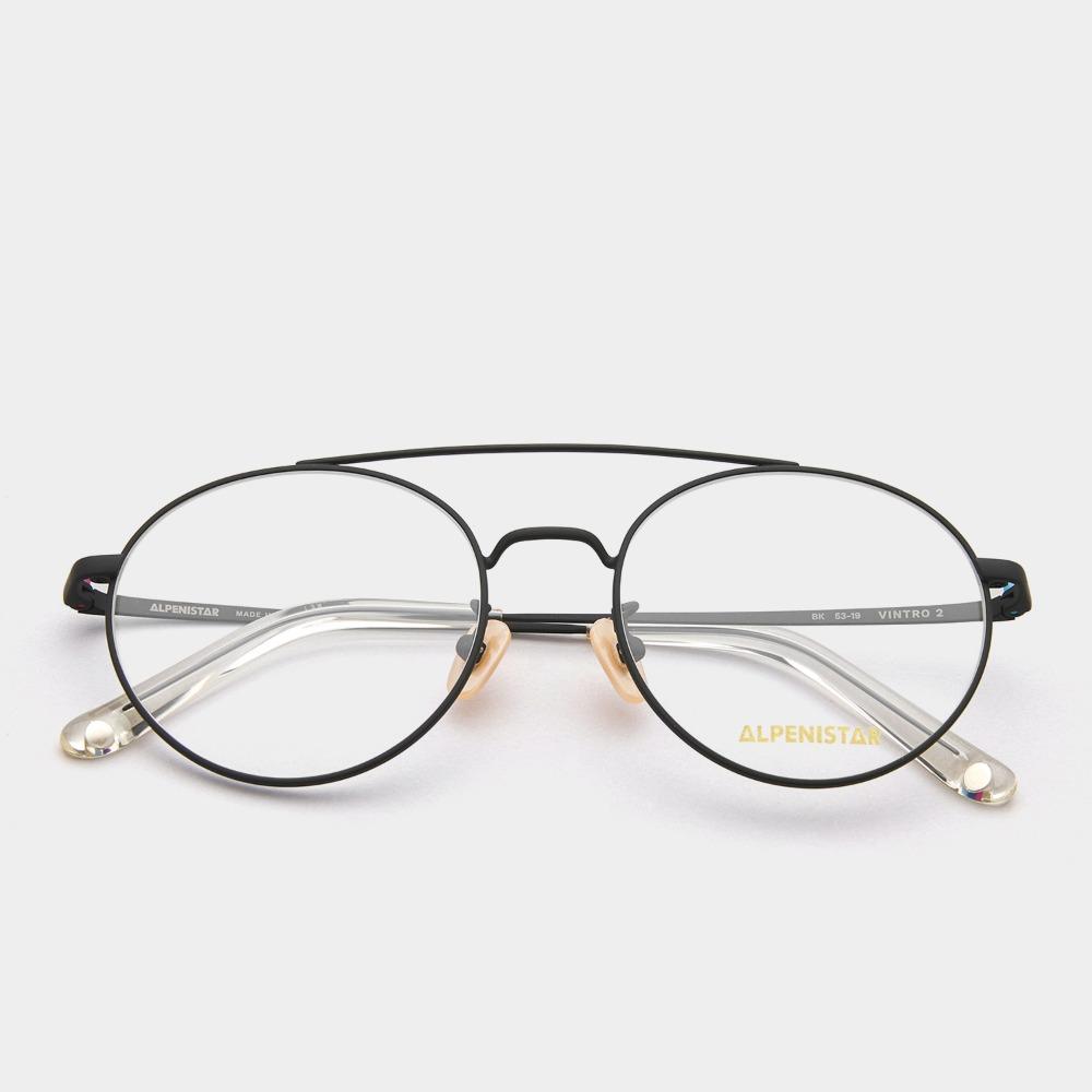 알페니스타 안경 빈트로 2 BK 투브릿지 블랙 메탈 원형 안경테