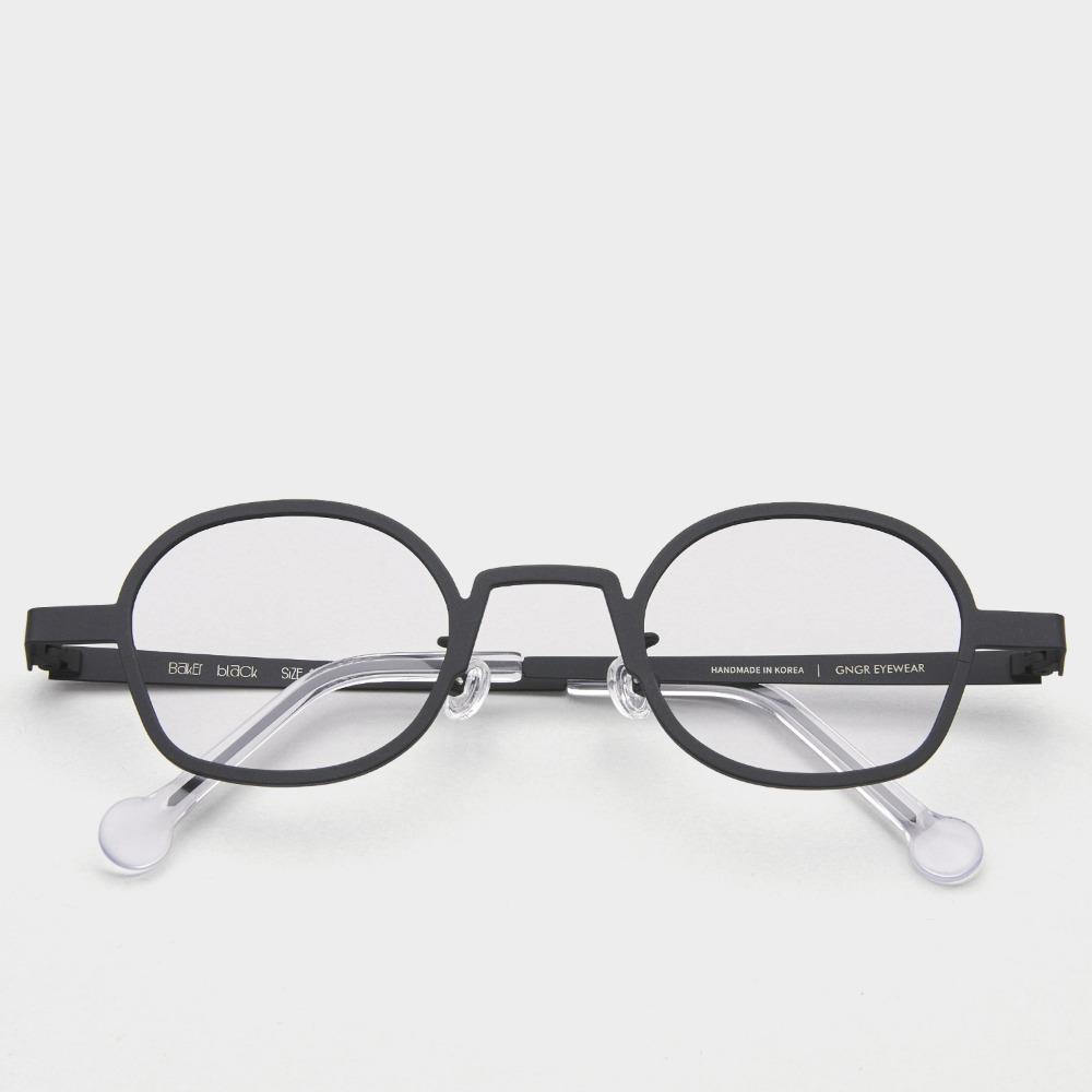 진저아이웨어 워커즈베이커 WORKERS BAKER BLACK 안경 GINGER EYEWEAR