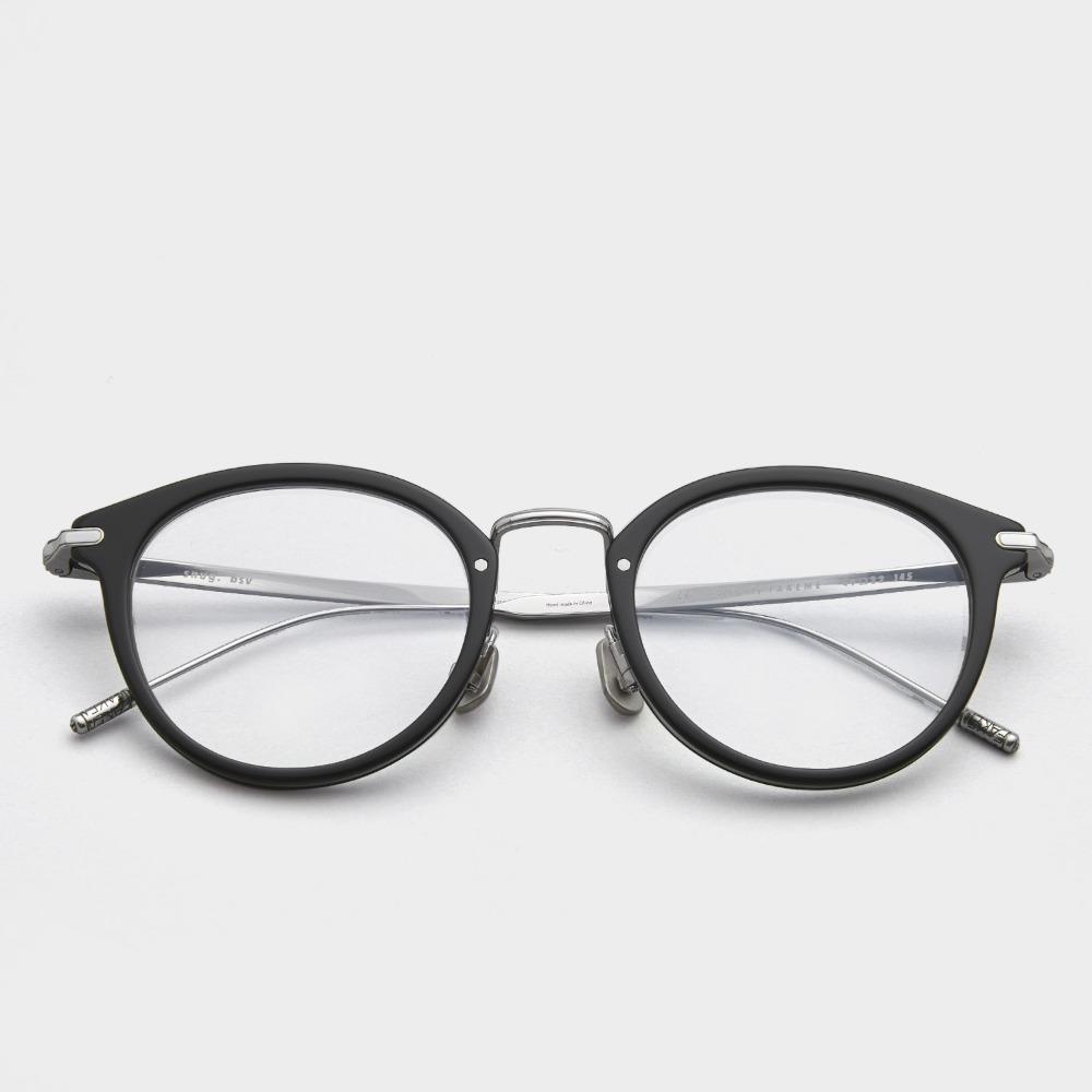 페이크미 안경테 스너그 BSV  남자 여자 청광 렌즈 솔텍스 티타늄 실버 안경