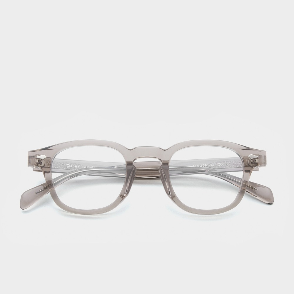 애쉬컴팩트 안경 타르 C5 웜그레이 44사이즈 투명 그레이 사각 안경테