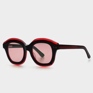 [하이칼라선글라스] 더블버블 DOUBLED BUBBLED C1 (Red Tint Lens) 레드틴트렌즈 색안경 (Highcollar)   / (지구인 착용)