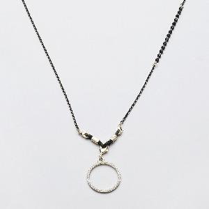 스프링스트링스 쁘띠 크리스탈 체인 블랙 petit crystal chain black 진주 펜던트 안경줄