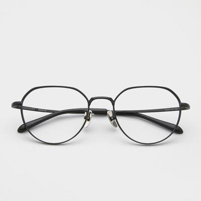 애쉬크로프트 휴즈 4 매트 블랙 54사이즈 남자 여자 오버사이즈 메탈 안경
