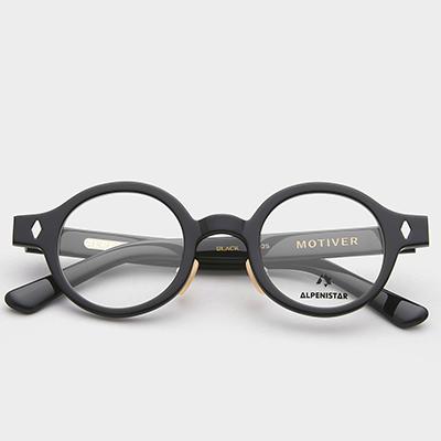 알페니스타 안경 모티버 BLACK 블랙 뿔테 안경테