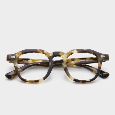 퍼블릭비컨 뮤지엄 14 C2 카키 하바나 남자 여자 뿔테 안경