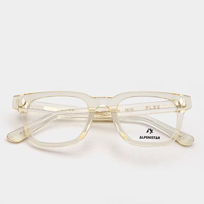 알페니스타 안경 플렉스 YELLOW CRYSTAL 심플한 옐로우 크리스탈 뿔테 안경테