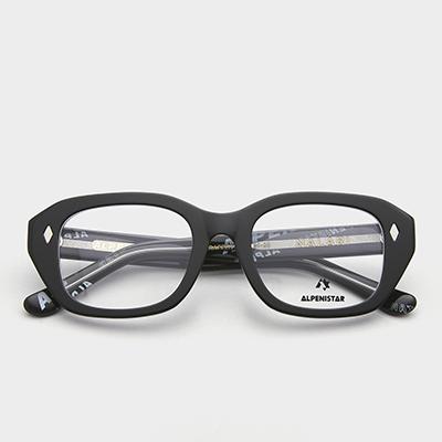 알페니스타 안경 날라리 그래피티 블랙 뿔테 안경테