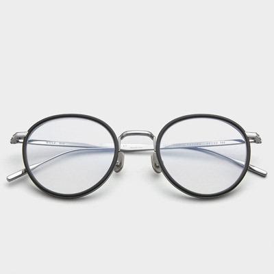 페이크미 안경테 모카 BSV 블루라이트차단 가벼운 실버 패션 시력보호 안경