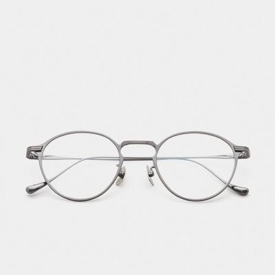 어크루 안경 믹 GUN 원형 메탈 티타늄 안경테