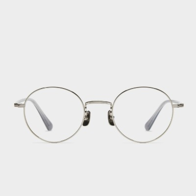 어크루 안경 오지 SV 남자 실버 메탈 여자 라운드 티타늄 안경테