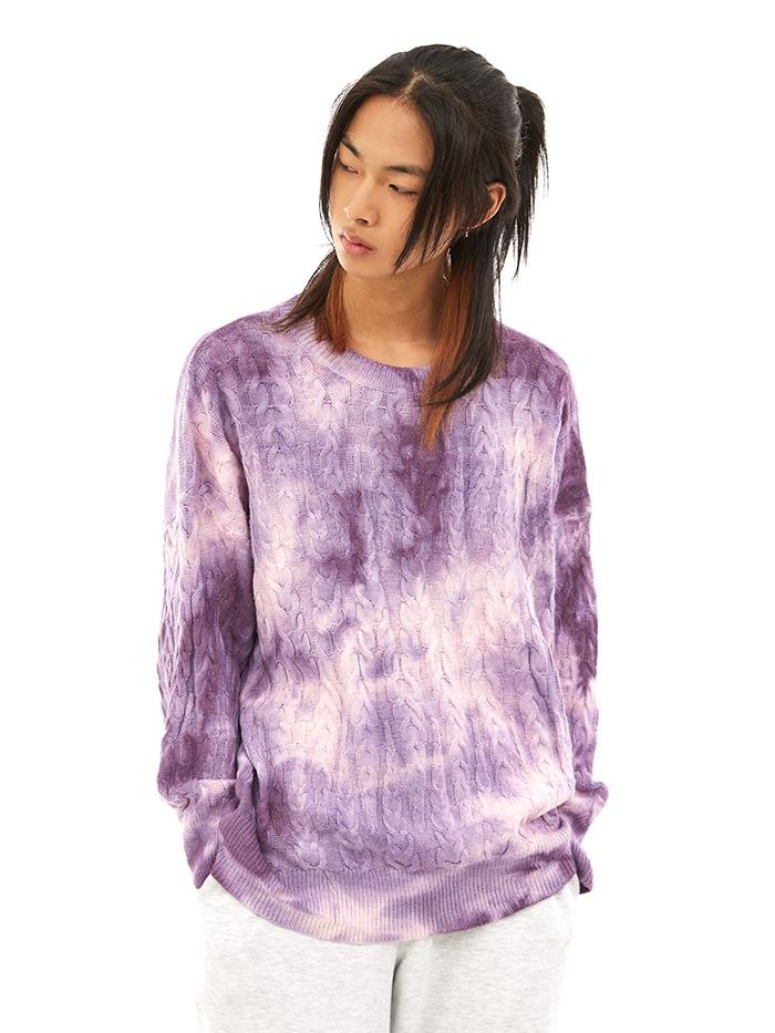 watercolor cable knit (2 color)
