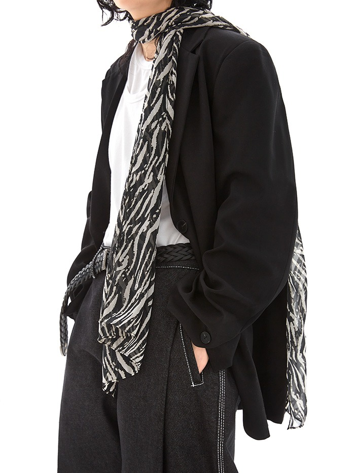 pattern silky scarf (4 color)