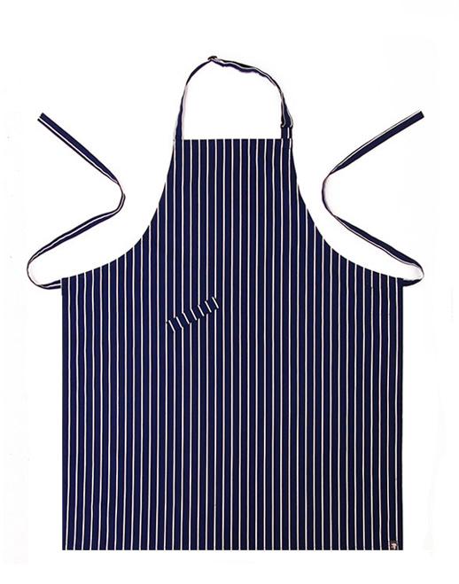 #AA1410 Stripe chest Apron Navy