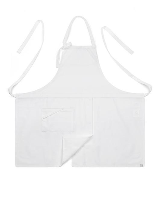 (AA1414) basic chest apron - white