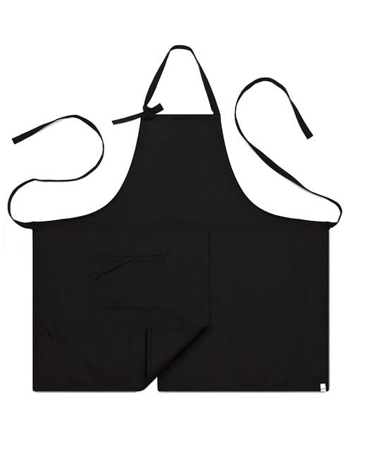 #AA1414 Basic chest Apron Black