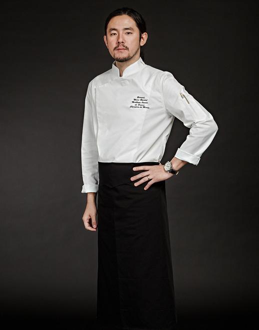 Slim Chef Jacket (White) #AJ1455