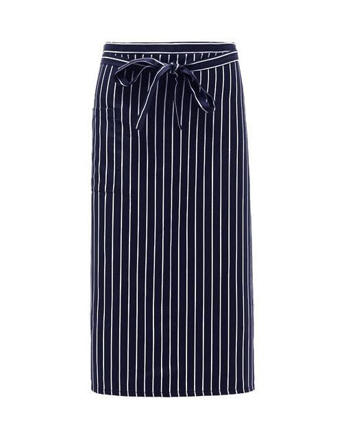#AA1575 Long Stripe Apron Navy