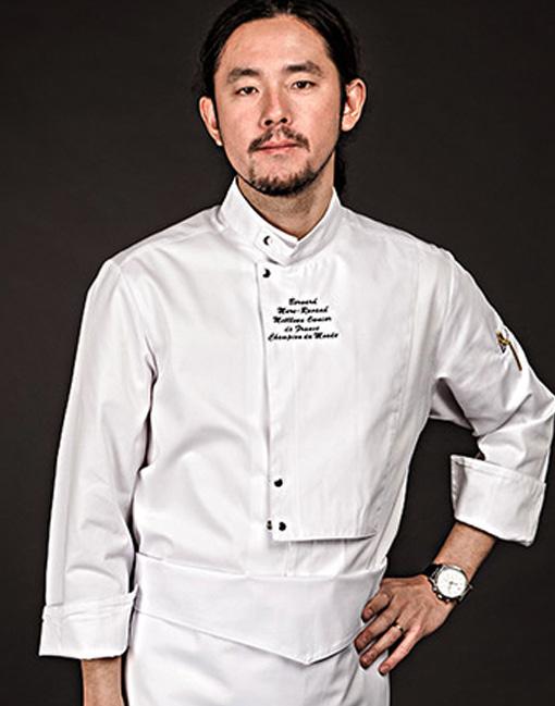 the covering chef coat white #AJ1642