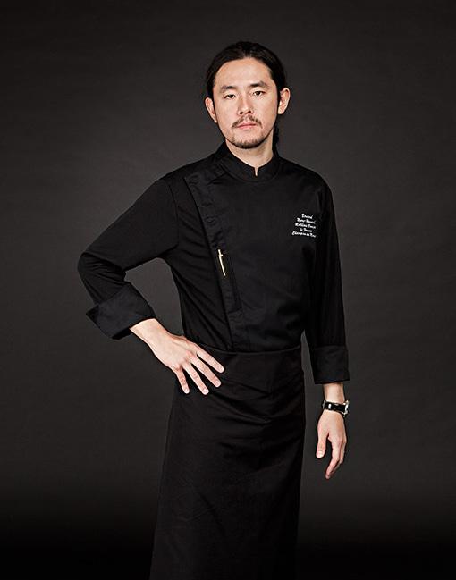 edin chef coat black #AJ1648