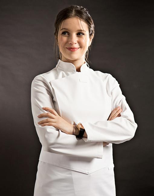 Slim Chef Jacket (White) Women #AJ1455