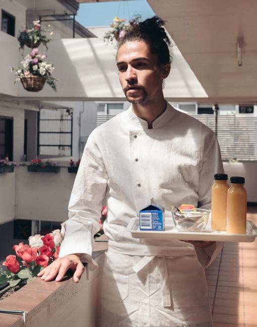 Linen Classic Fit chef coat #AJ1893