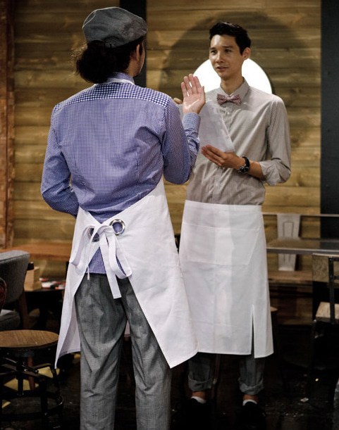 waist apron white #AA1312