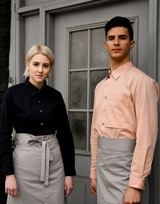 relaxed pocket cotton stretch shirts #AS1942 pink