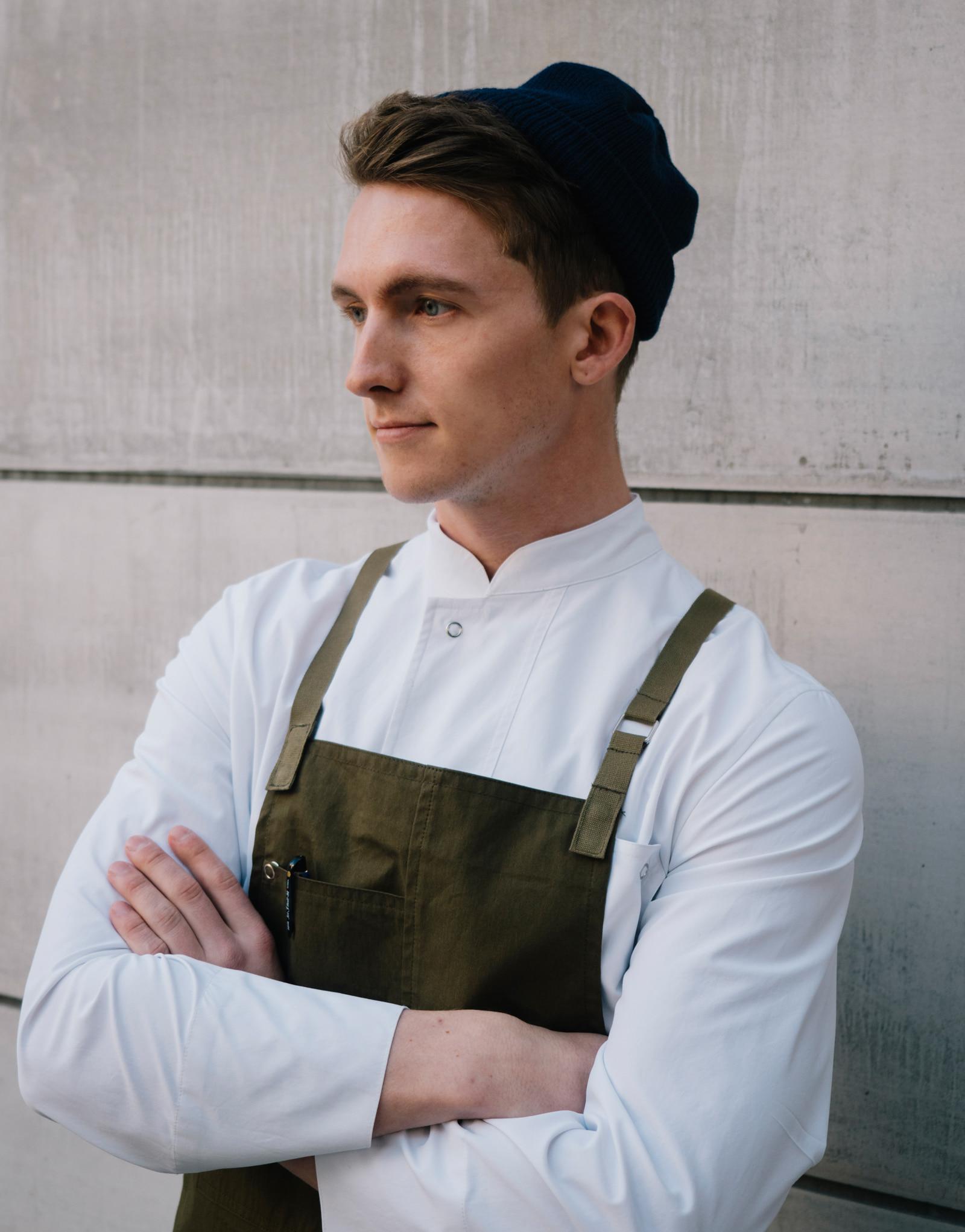 lamant stretch chef coat #AJ1955 white