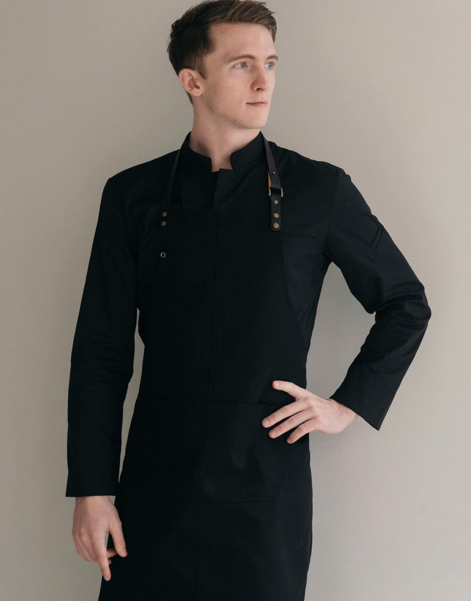 strap change custom Bib apron #AA1976 black