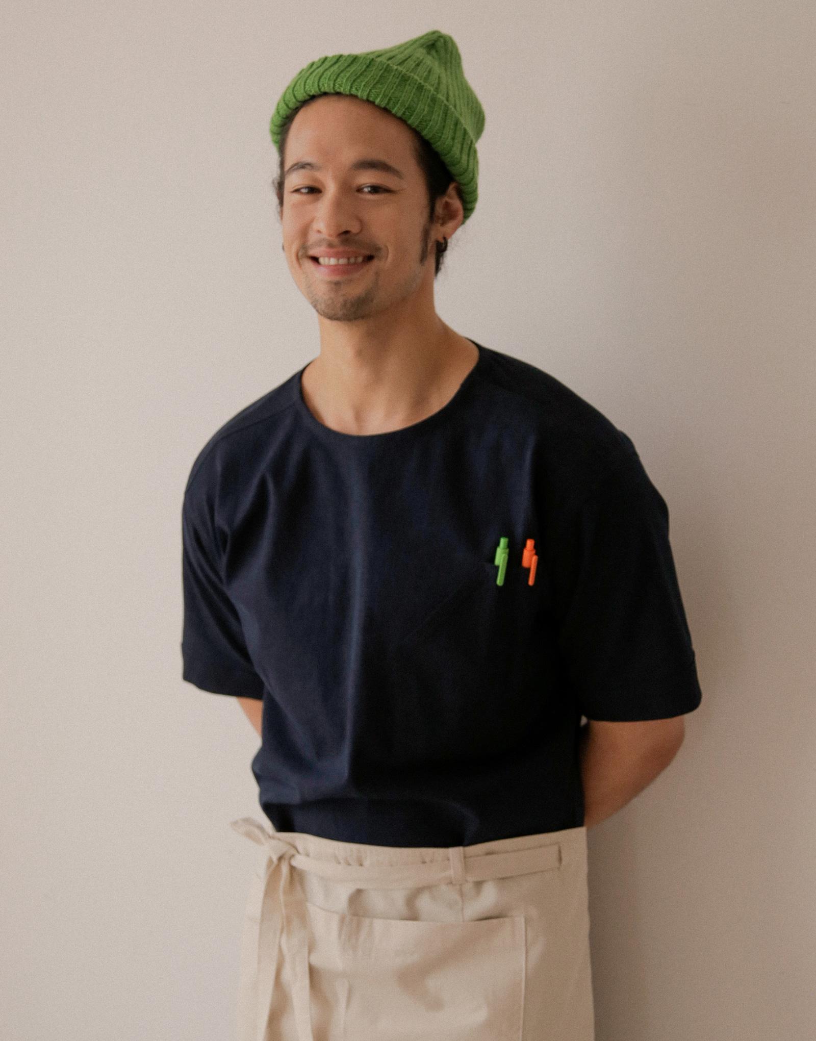 데님 쿨 반소매 쉐프 셔츠 #AJ2002
