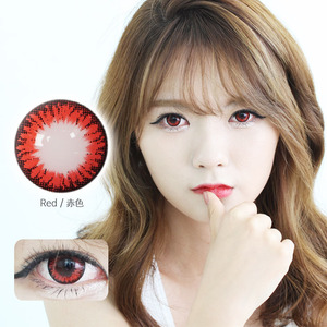 K14 Red colored contacts