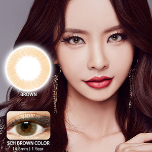 SCH Brown colored contacts