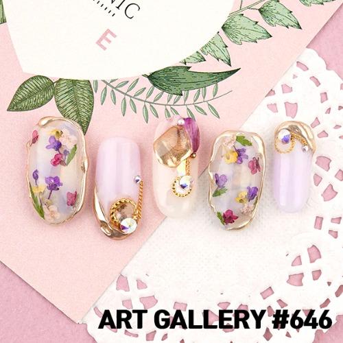 아트갤러리 #646 보라빛 향기 네일아트