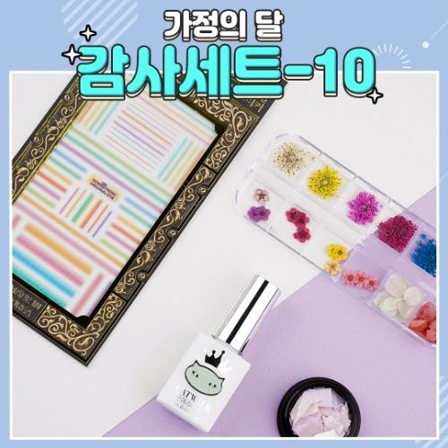 ★5월 사랑담은 패키지★감사세트-10 /캣워크 컬러젤+네일 스티커+생화+자개 세트