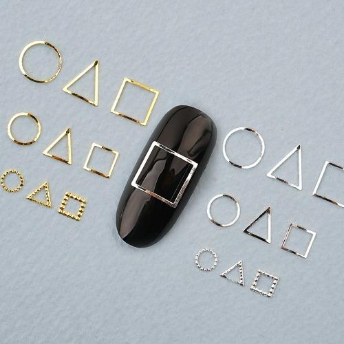 오징어게임 메탈파츠-1 (소켓/±15개입) 삼각 사각 링파츠 메탈참 네일파츠