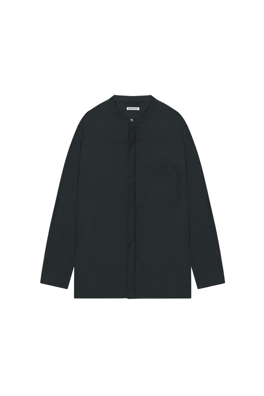 드레이프 그랜대드 셔츠 MARINE BLACK