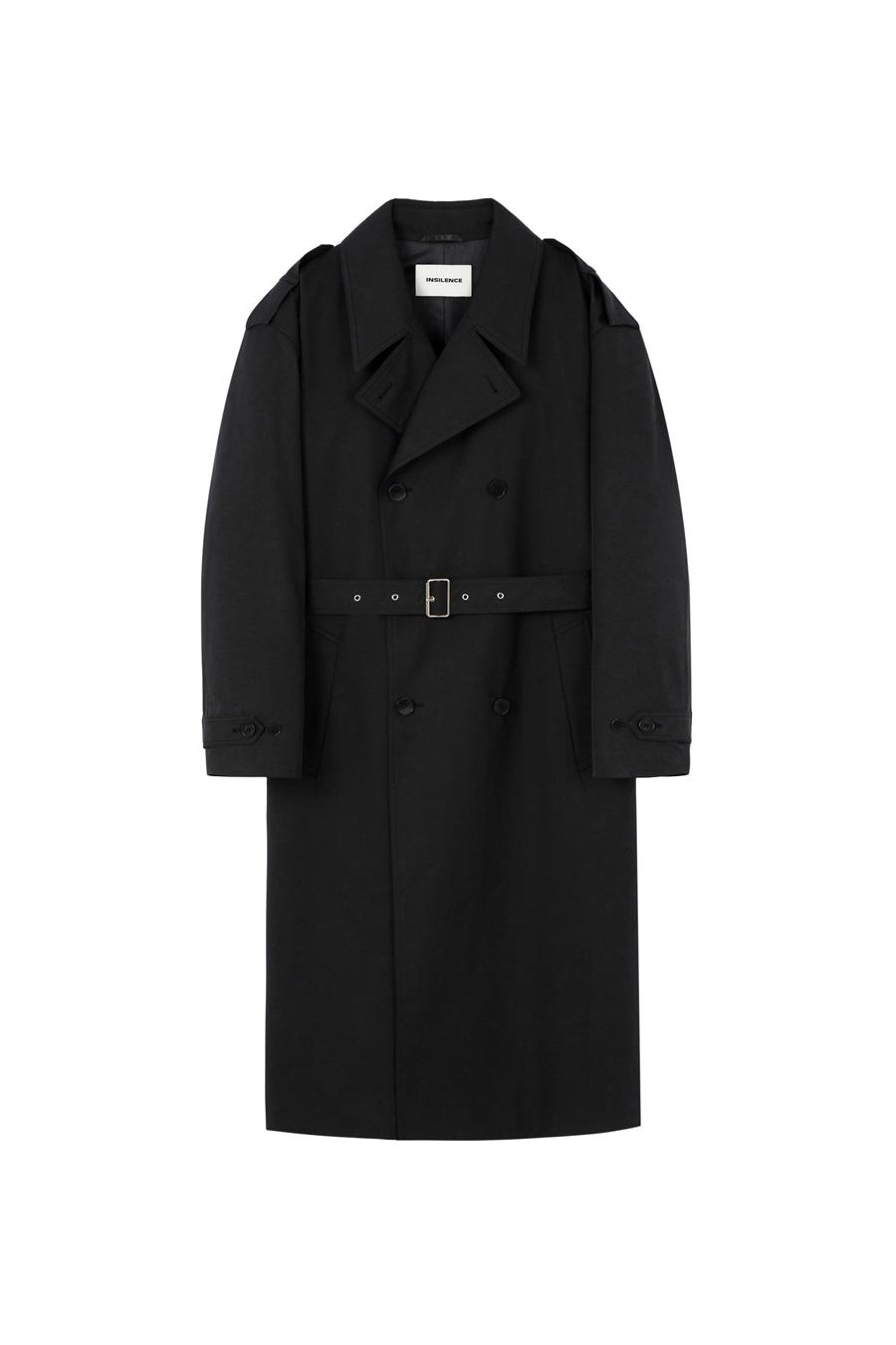 오버사이즈 트렌치 코트 BLACK