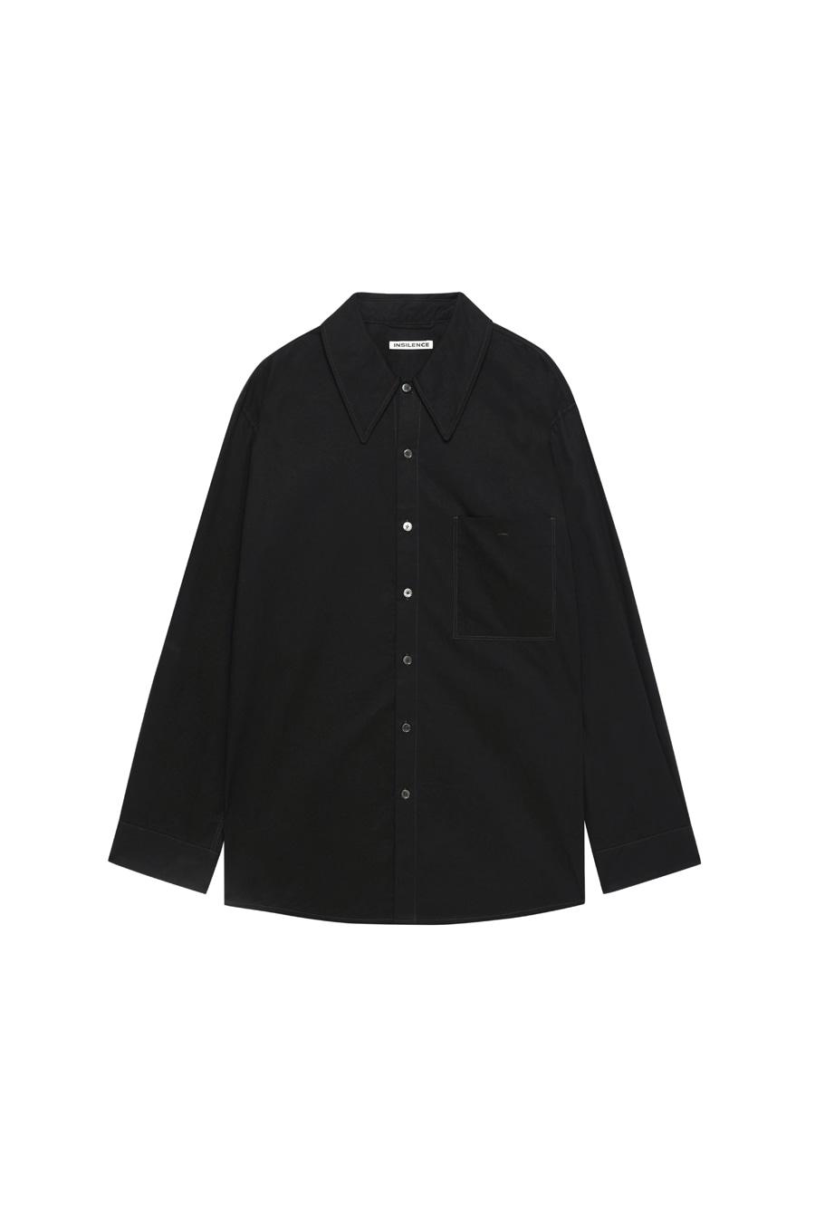 와이드 칼라 셔츠 BLACK