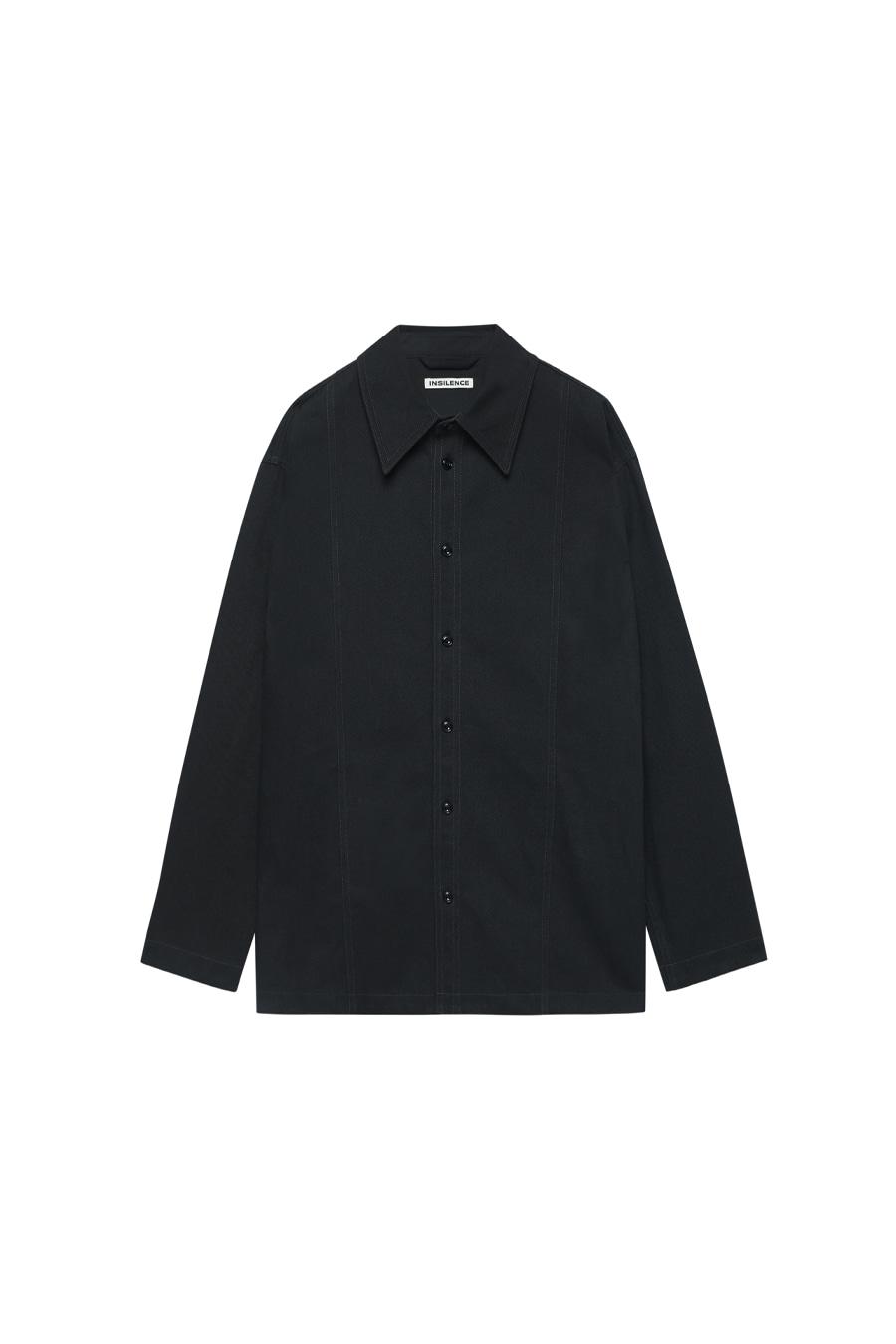 빅 트윌 패널 셔츠 BLACK
