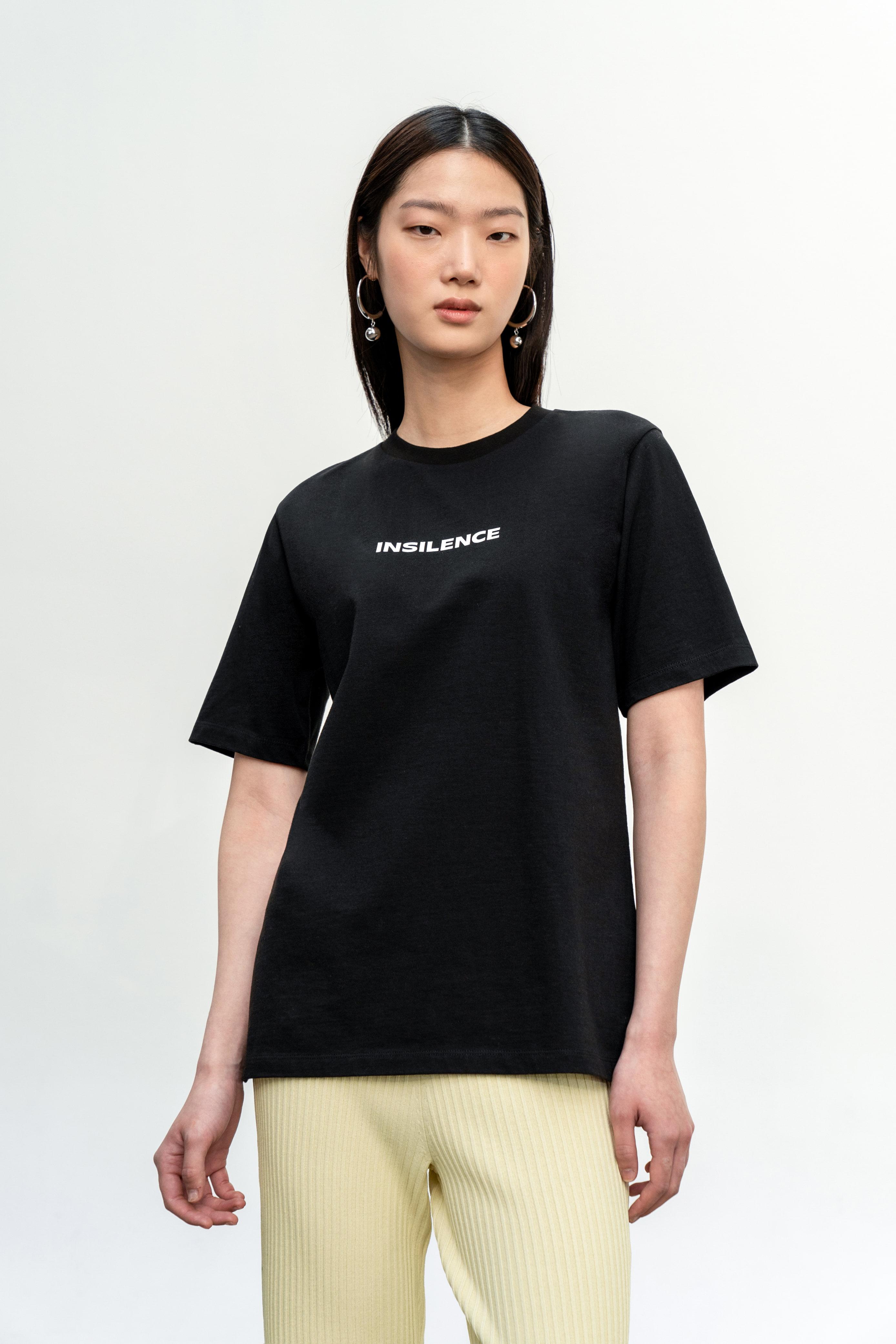 로고 티셔츠 BLACK