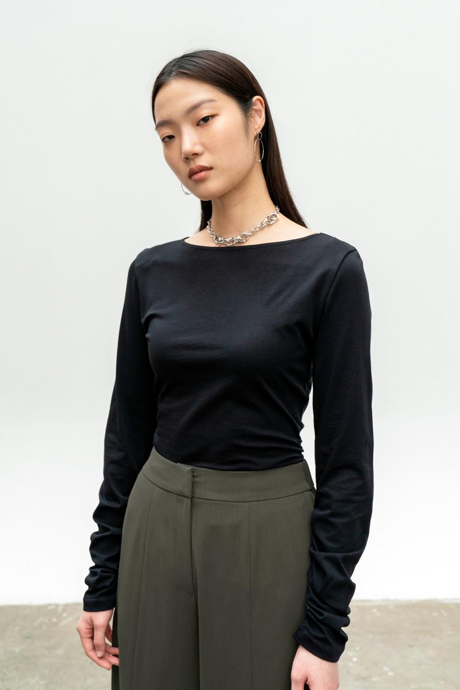 루시드 보트넥 티셔츠 BLACK