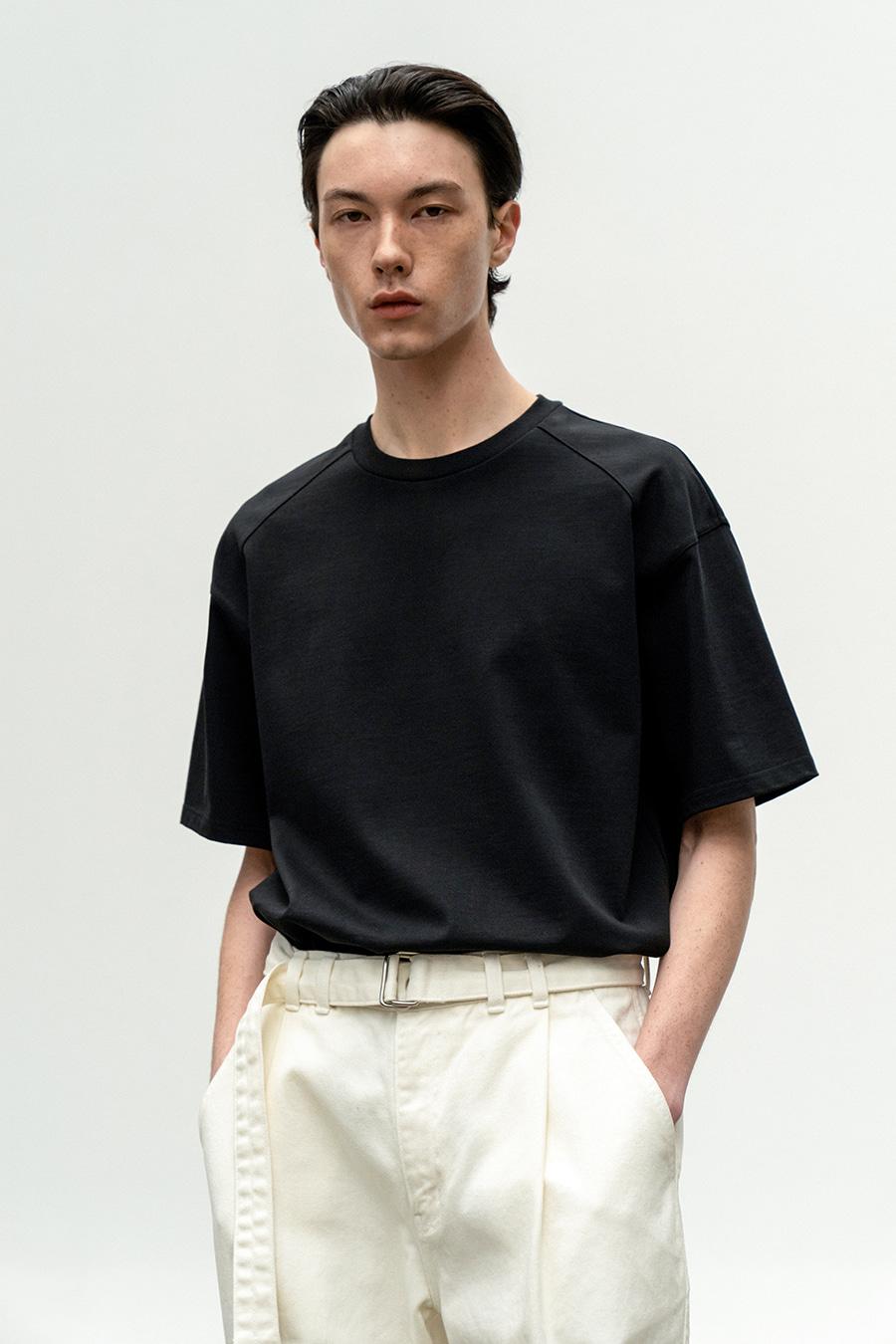 래글런 티셔츠 BLACK