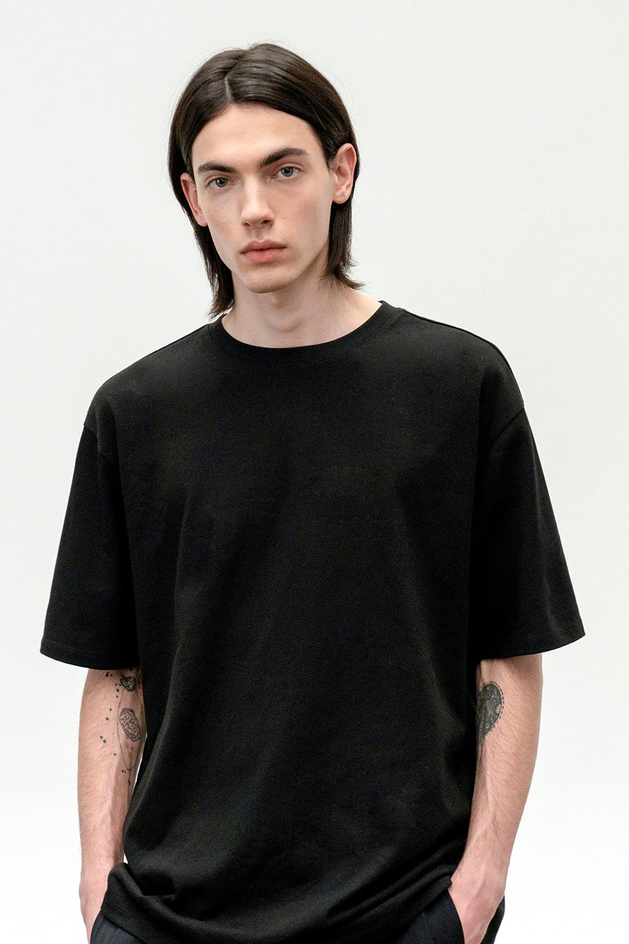 수피마 코튼 프리미엄 티셔츠 BLACK