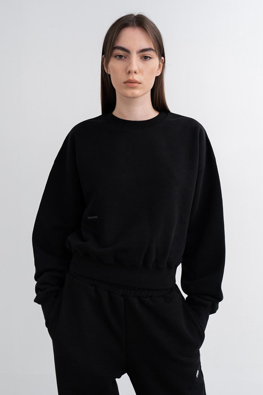 스웨트 셔츠 BLACK