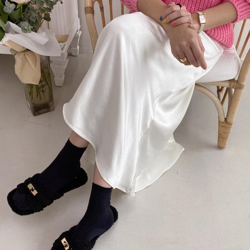 Basic Long Silky Skirt