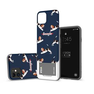아이폰11 슬라이더 그래픽 비글 카드케이스, 디자인스킨 케이스 몰, 커플케이스, 튼튼한케이스, 고급케이스, 아이폰케이스, 갤럭시케이스, 자수케이스