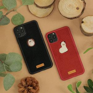 아이폰11프로 코듀로이 동물 자수 케이스, 디자인스킨 케이스 몰, 커플케이스, 튼튼한케이스, 고급케이스, 아이폰케이스, 갤럭시케이스, 자수케이스